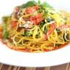 Spaghetti cu legume crocante